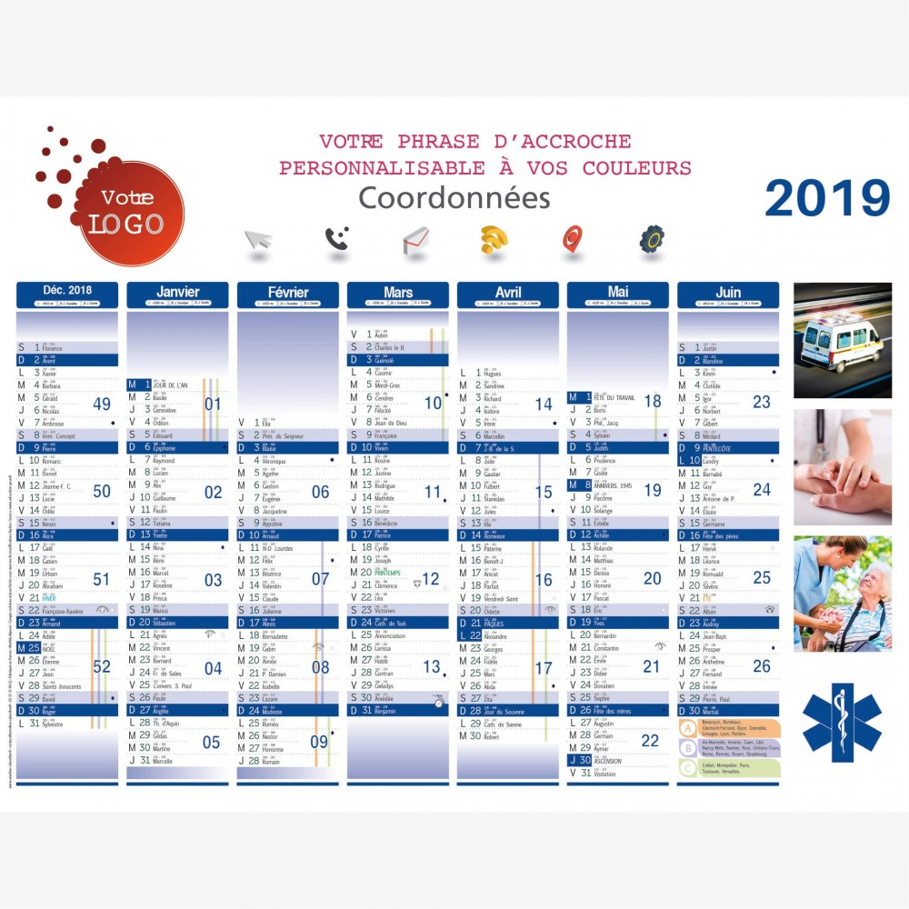 calendrier-ambulance-secours