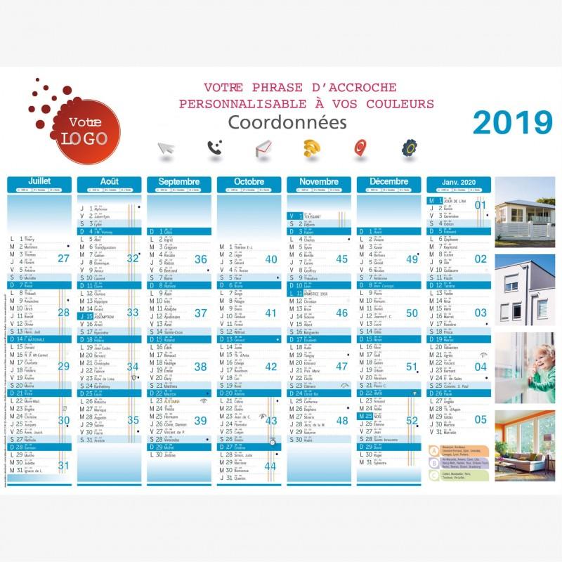 Calendrier Professionnel 2021 Calendrier Professionnel Publicitaire Mensuisier A243
