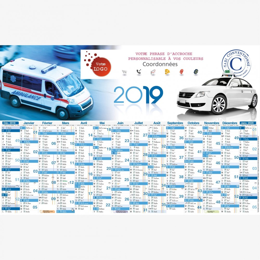 calendrier-taxi-ambulance