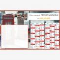 Calendrier bancaire 2022 personnalisé LONDRES EFFACABLE - 66 x 43 cm