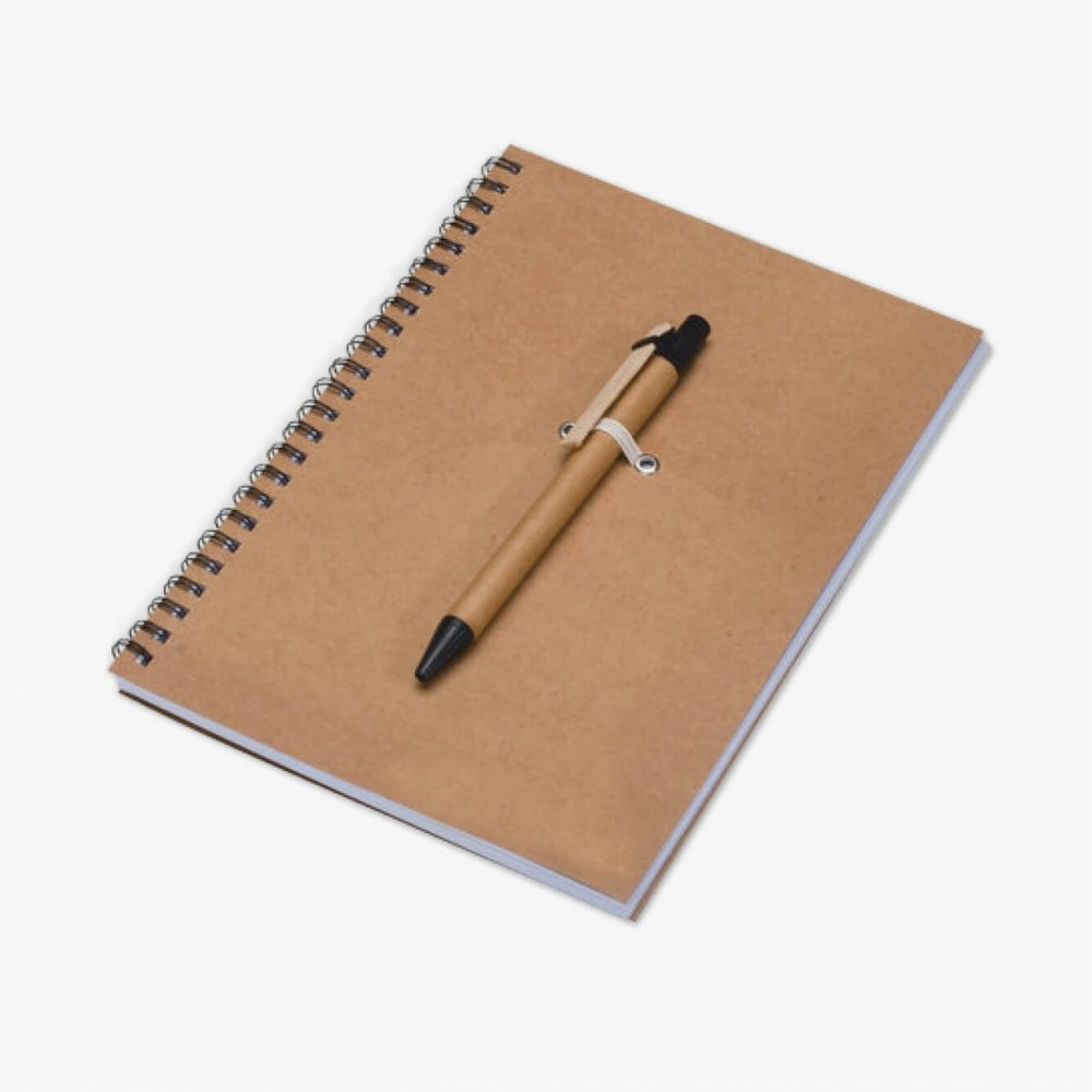 CARNET DE NOTES CARTON A5 + STYLO