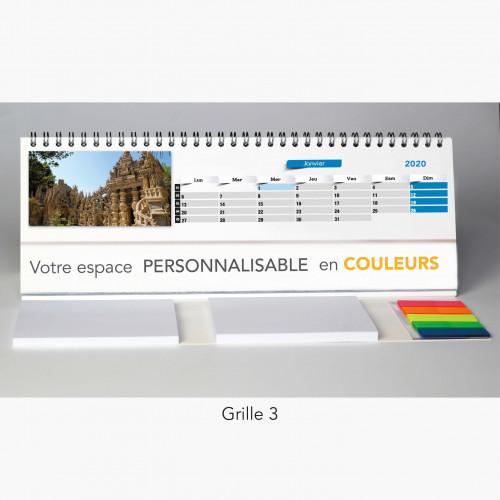 Calendrier chevalet de bureau FRANCE INSOLITE - 29,7 x 10,5 cm