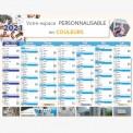 Calendrier bancaire 2022 personnalisé CHAUFFAGISTE - 54x42 cm ou 43x33 cm ou 21x27 cm