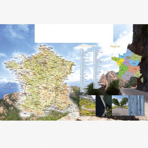 Calendrier personnalisé en ligne CARTE DE FRANCE - 66 x 43 cm