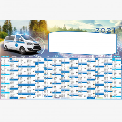 Calendrier personnalisé en ligne AMBULANCE - 66 x 43 cm
