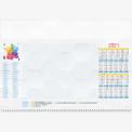 Calendrier personnalisé en ligne Sous-main publicitaire CARTE DE FRANCE CALENDRIER - 48,5 x 33,5 cm