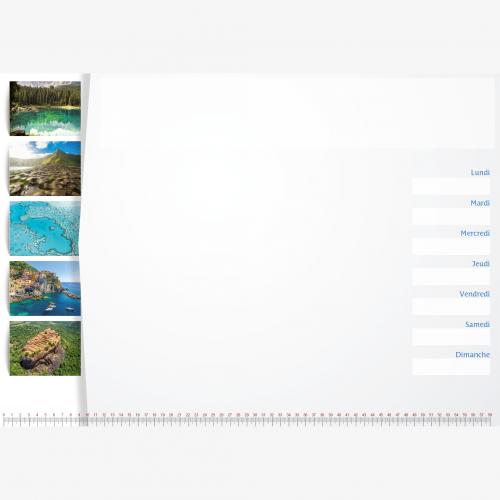 Calendrier personnalisé en ligne Sous-main publicitaire AUTOUR DU MONDE - 48,5 x 33,5 cm