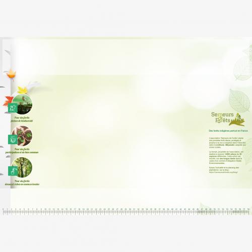 Calendrier personnalisé en ligne Sous-main publicitaire REBOISEMENT - 48,5 x 33,5 cm