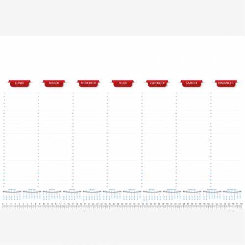 Calendrier personnalisé en ligne Sous-main publicitaire PLANNING - 48,5 x 33,5 cm