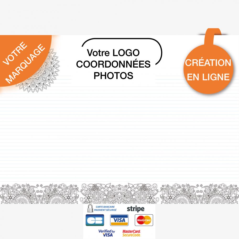 Calendrier personnalisé en ligne Sous-main publicitaire MANDALA - 48,5 x 33,5 cm