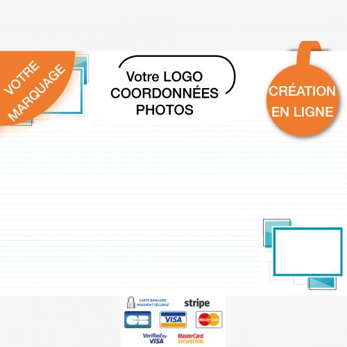 Calendrier personnalisé en ligne Sous-main publicitaire PHOTOS - 48,5 x 33,5 cm