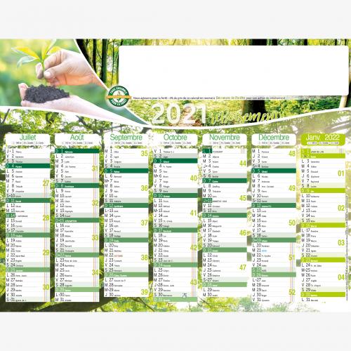 Calendrier personnalisé en ligne Calendrier publicitaire ACTION REBOISEMENT - 54 x 42 cm