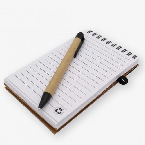 CARNET BLOC-NOTES A SPIRALE + STYLO
