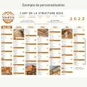 Calendrier bancaire 2022 personnalisé 7 MOIS DÉCALÉS - ECO - 54x42 cm ou 43x33 cm ou 21x27 cm