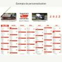 Calendrier bancaire 2022 personnalisé 7 MOIS ALIGNÉS - ECO - 54x42 cm ou 43x33 cm ou 21x27 cm