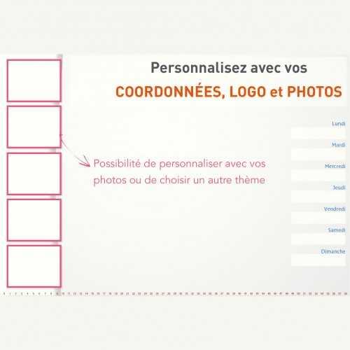Sous-main publicitaire SOUS-MAIN MODELE 1 AVEC VOS PHOTOS