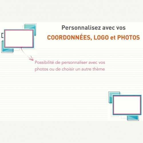 Sous-main publicitaire SOUS-MAIN MODELE 2 AVEC VOS PHOTOS
