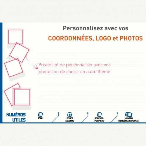 Sous-main publicitaire SOUS-MAIN MODELE 4 AVEC VOS PHOTOS