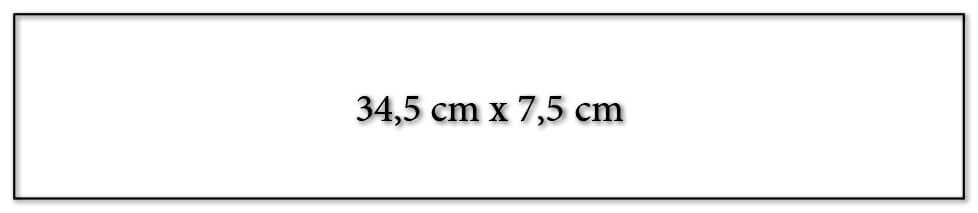 Dimension encart calendrier publicitaire 345x75