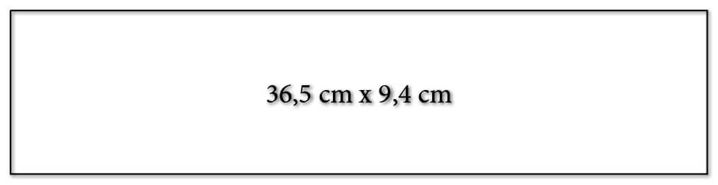 Dimension encart calendrier publicitaire 365x94