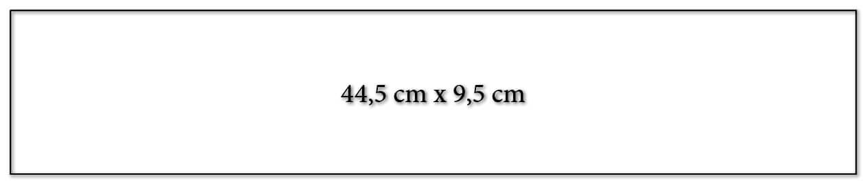 Dimension encart calendrier publicitaire 445x95