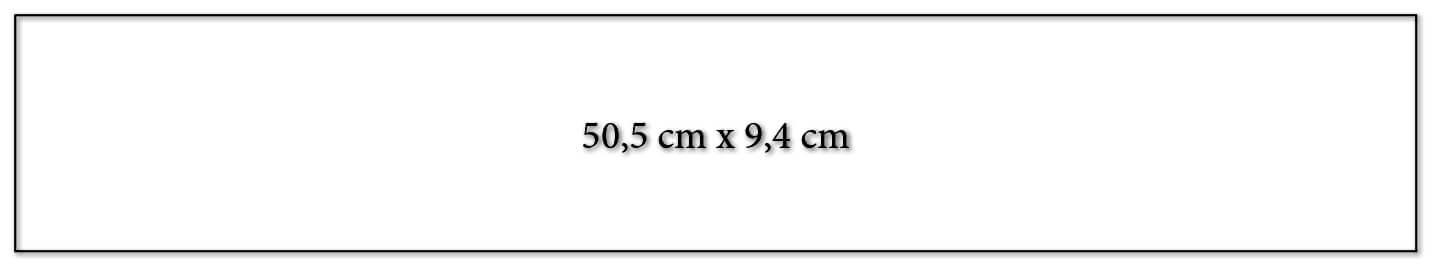 Dimension encart calendrier publicitaire 505x94