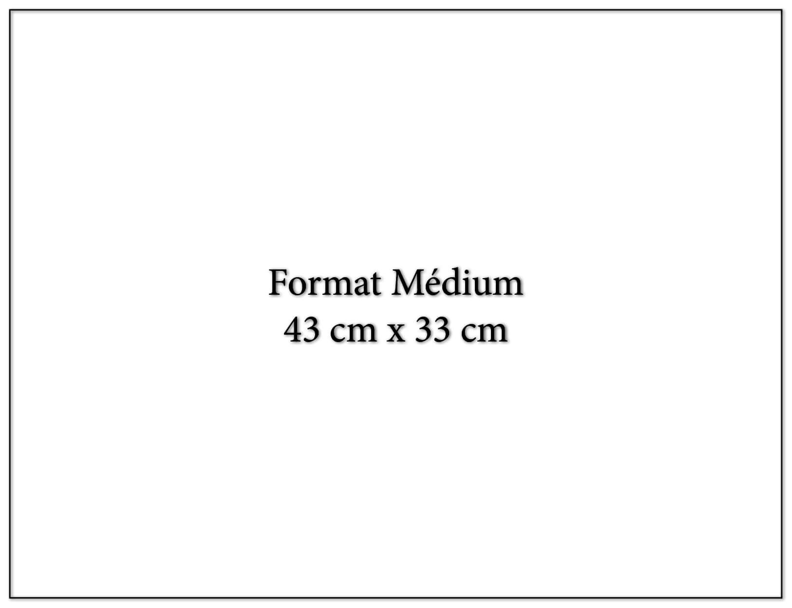 Calendrier publicitaire fomat médium 43x33cm