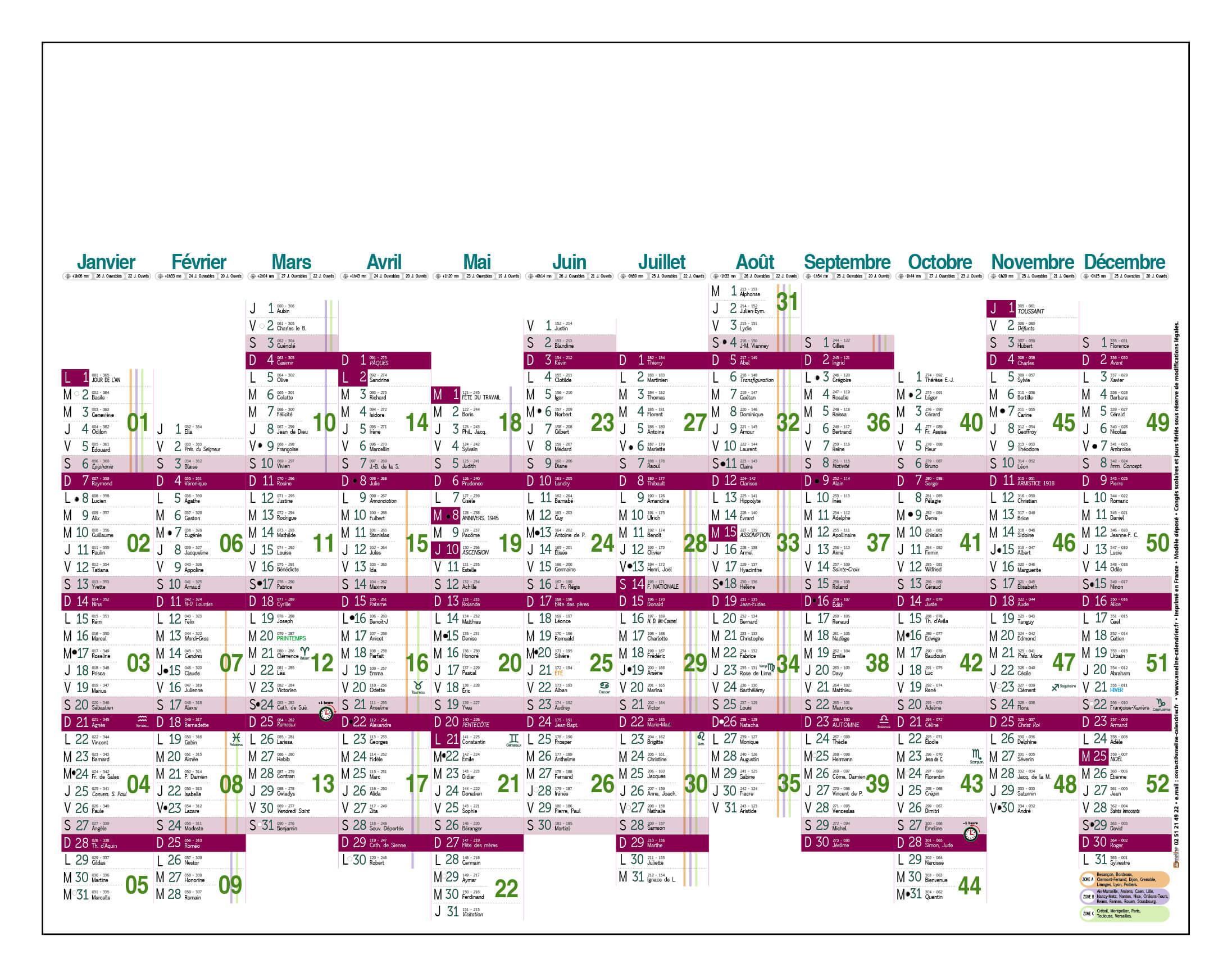 Grille-calendrier-2018-dimanches-alignés-G-12-mois
