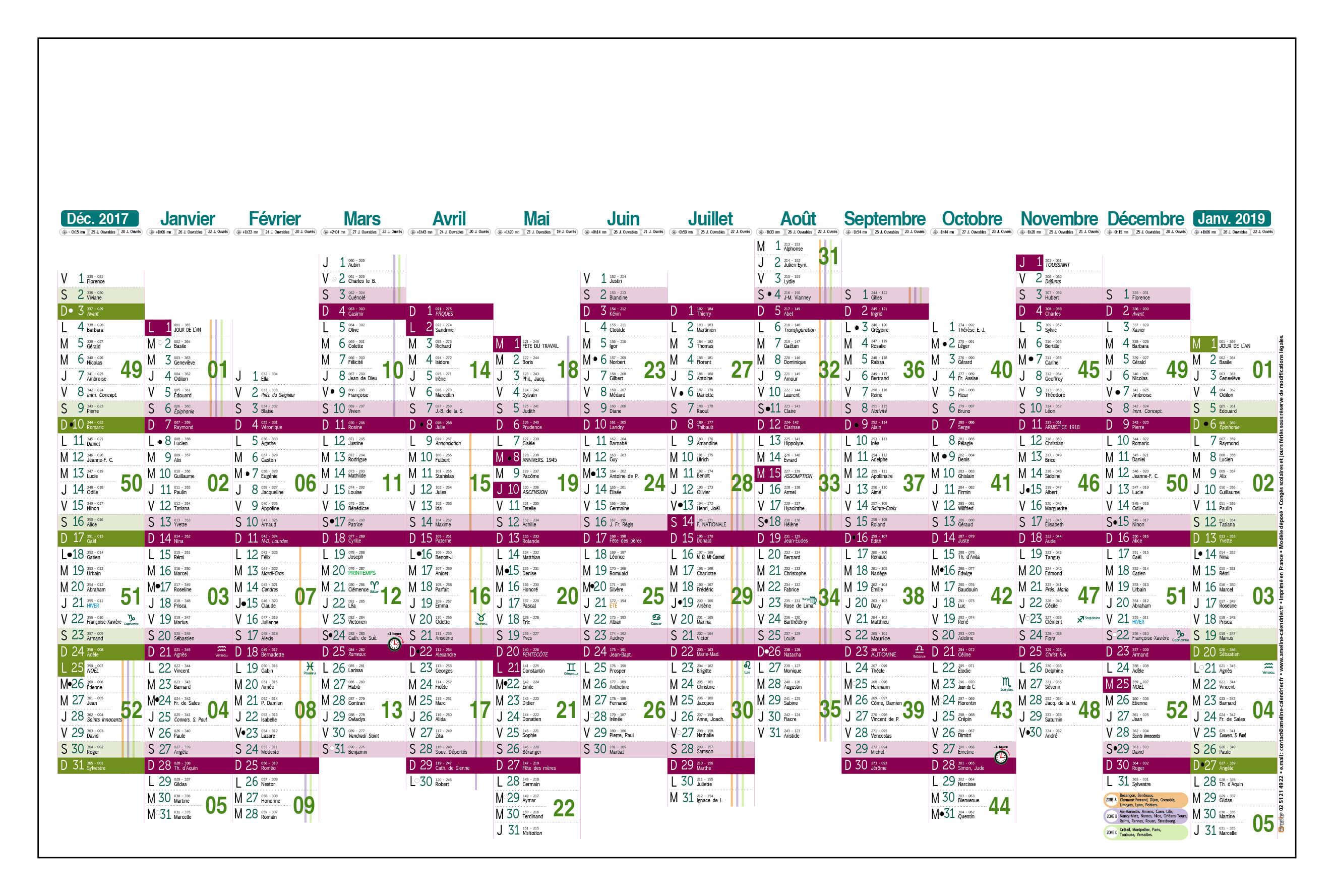 Grille-calendrier-2018-dimanches-alignés-TG-14-mois