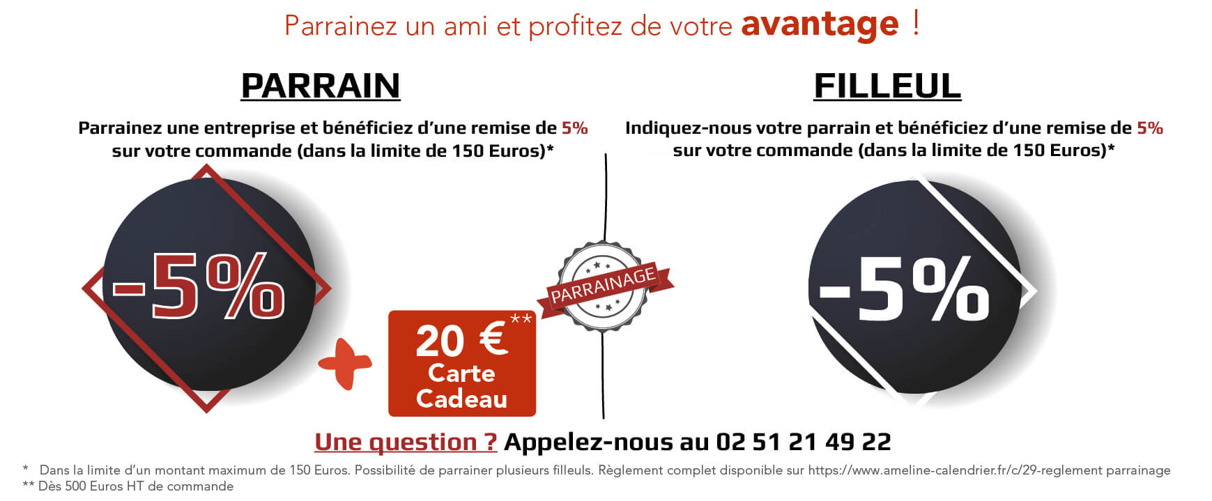 Ameline Calendrier.Offres Speciales Promotions Ameline Calendrier