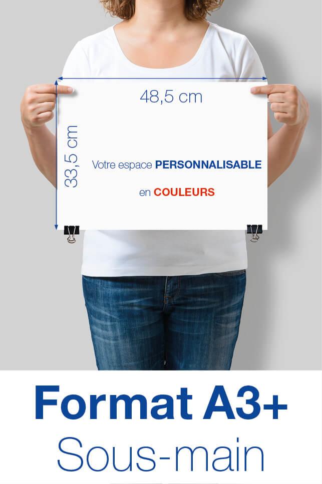 Un format aux dimensions 48,5 cm x 33,5 cm