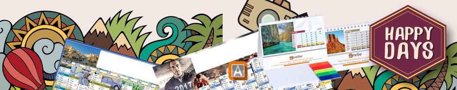 Une gamme de calendriers publicitaires