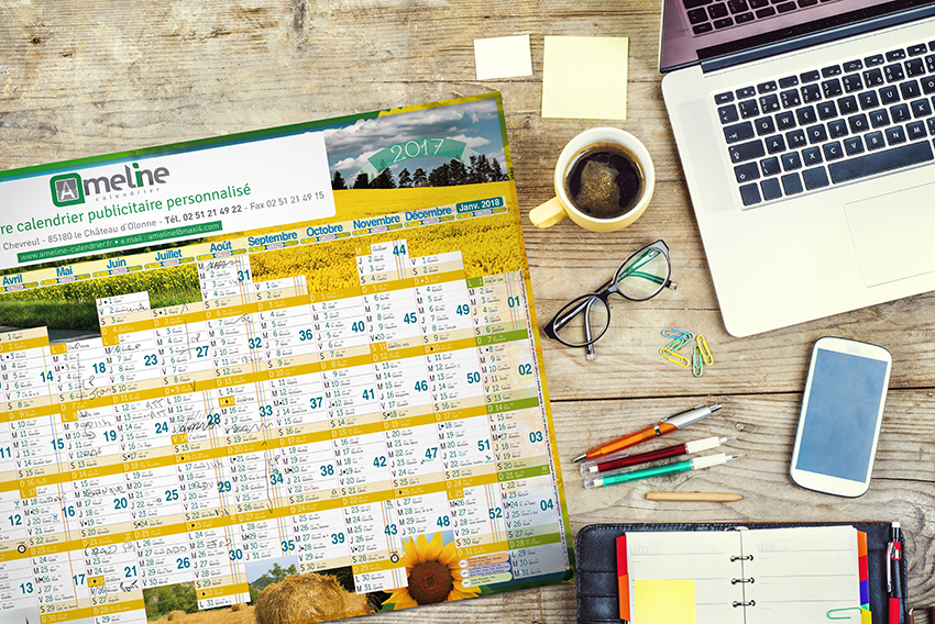 Image calendrier publicitaire